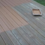 Lightly sanded deck with premium paint