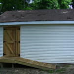 Custom shed door and ramp