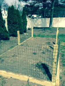 Wire fence to keep out critters