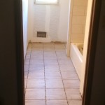 Full bathroom floor tile