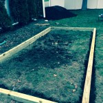 Built level garden with posts