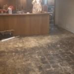 Removed vinyl floor